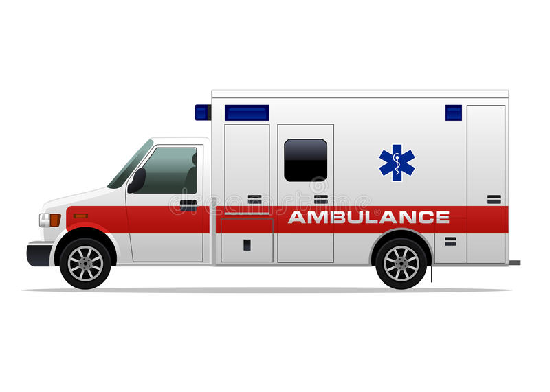 Ambulance. Illustration of Vector ambulance car royalty free illustration