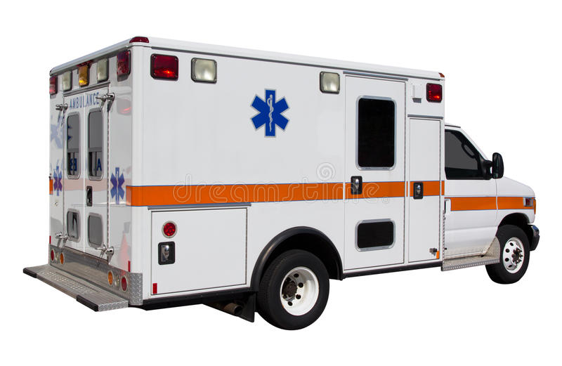 Ambulance. Isolated on white background stock photos