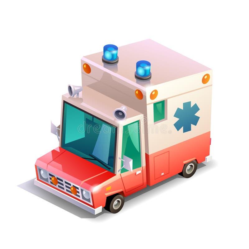 Ambulance isométrique illustration stock