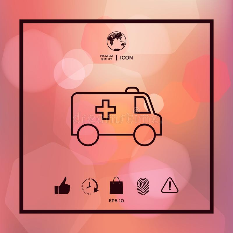 Ambulance line icon. Element for your design stock illustration