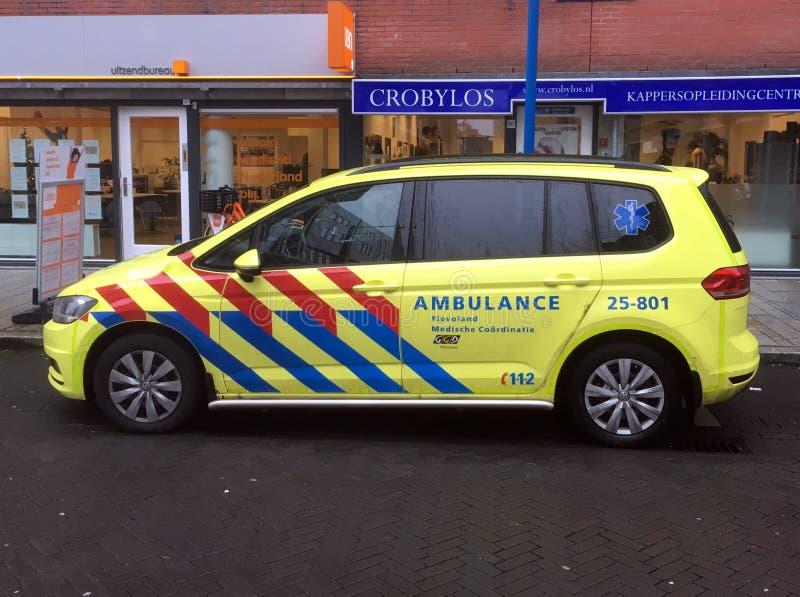 Ambulance rapide néerlandaise de répondeur photos libres de droits