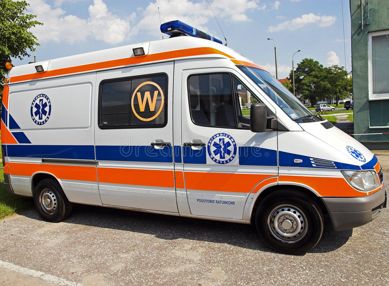 Ambulance side royalty free stock images