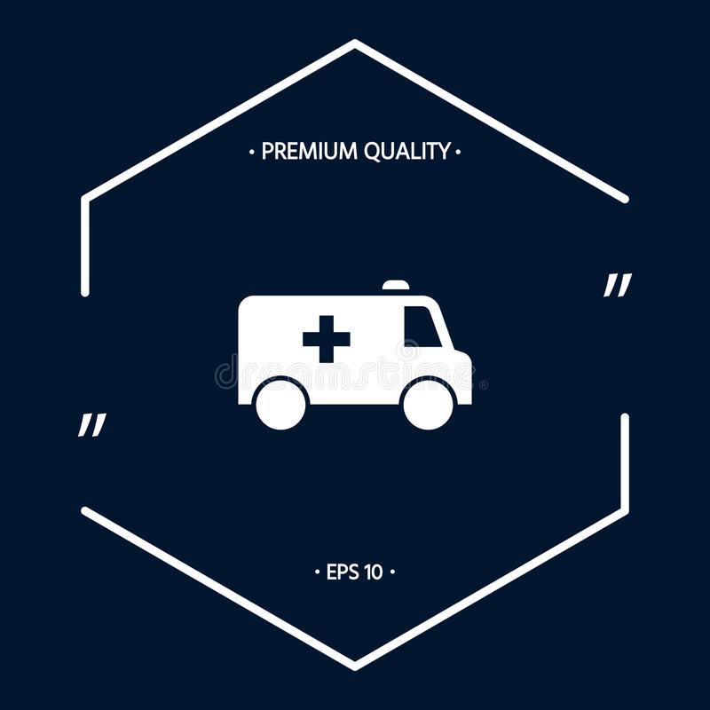 Ambulance symbol icon. Element for your design . Signs and symbols - graphic elements for your design vector illustration