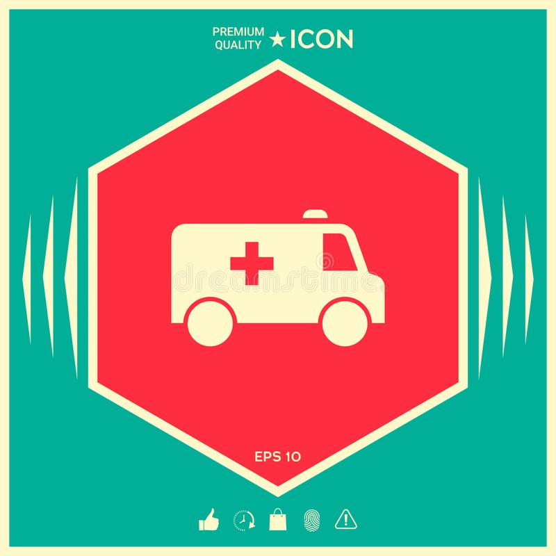 Ambulance symbol icon. Element for your design . Signs and symbols - graphic elements for your design stock illustration