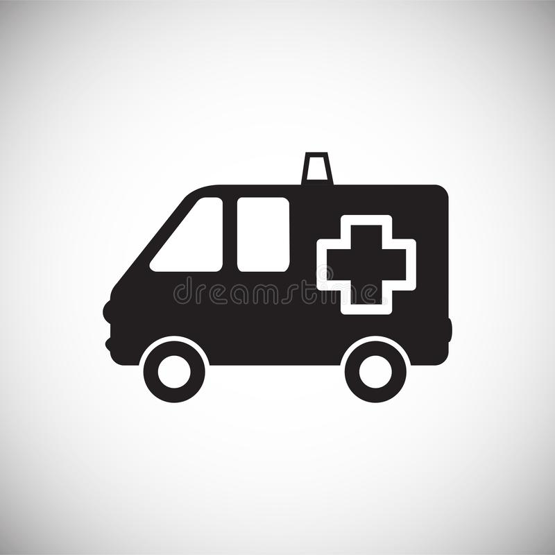 Ambulance truck on white background. Icon vector illustration