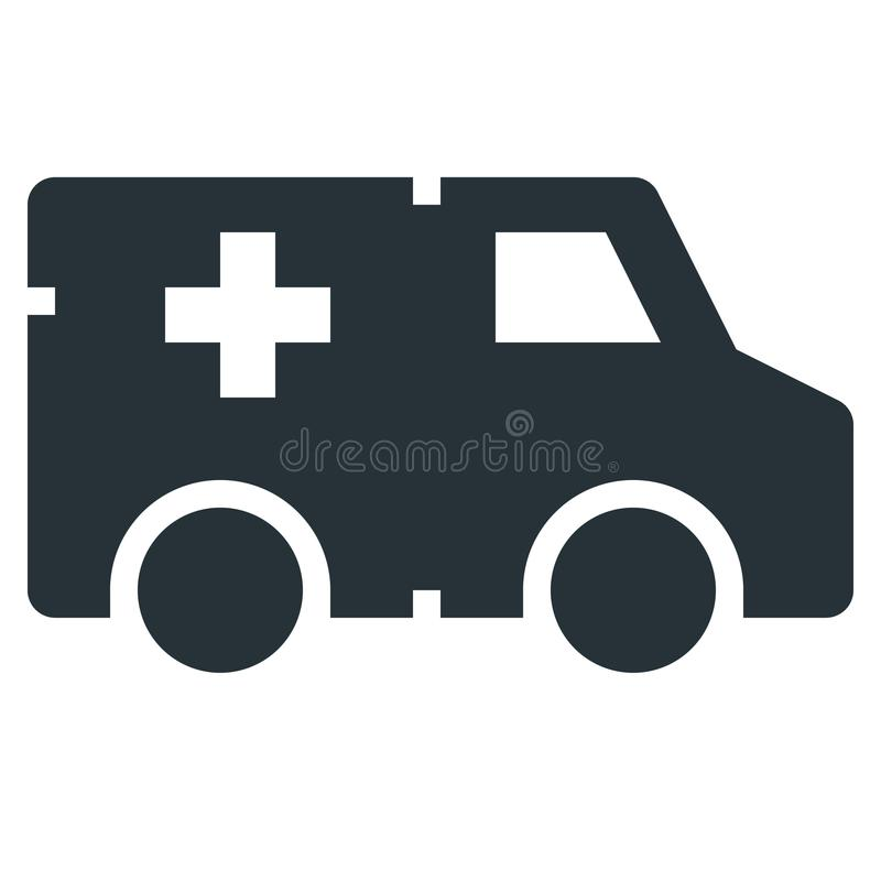 Ambulance Vector Line Icon 32x32 Pixel Perfect. Editable 2 Pixel. Stroke Weight. Medical Health Icon for Website Mobile App Presentation royalty free illustration