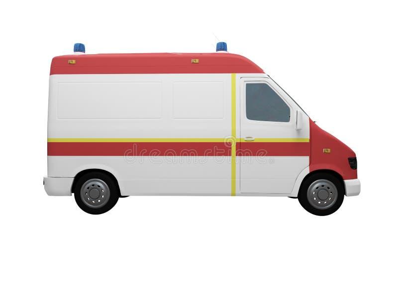 ambulanceeu查出的侧视图 库存例证