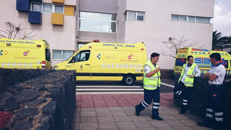 Ambulances Lanzarote royalty free stock photo