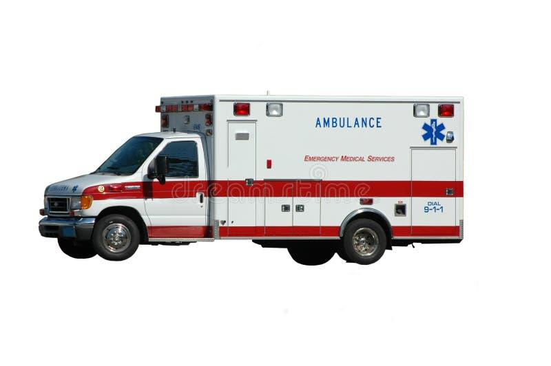 Ambulancia aislada en blanco imagen de archivo libre de regalías