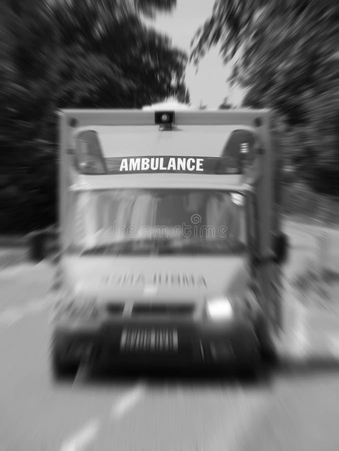 Ambulancia de la emergencia fotos de archivo