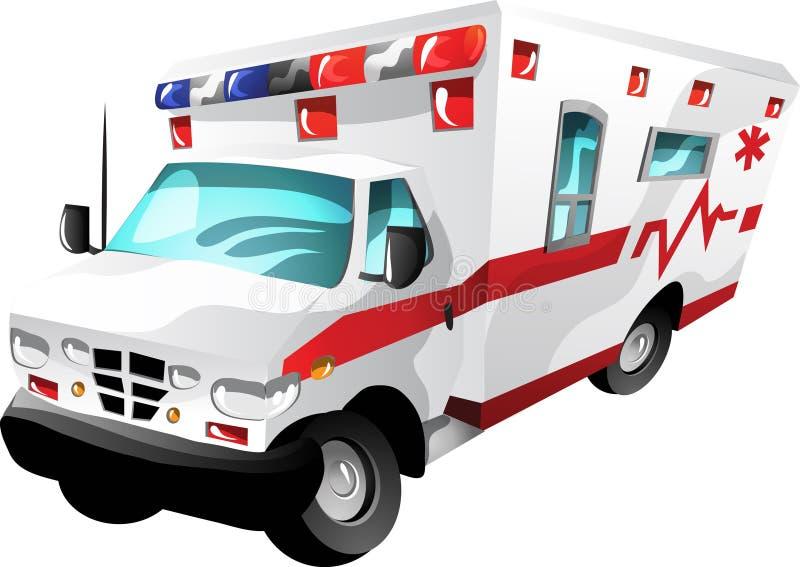 Ambulancia de la historieta ilustración del vector