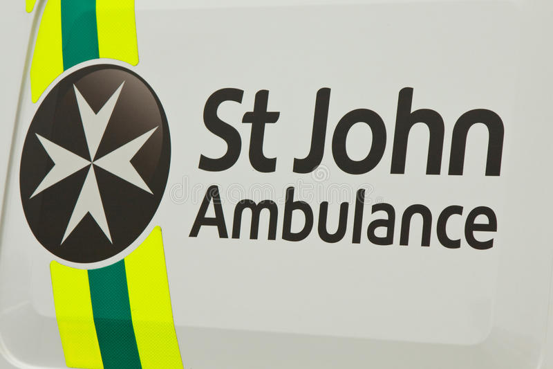 Ambulancia de San Juan imagen de archivo