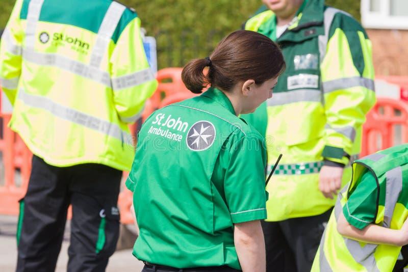 Ambulancia de St Johns foto de archivo