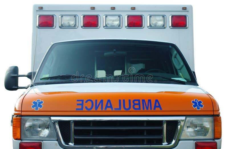Ambulancia en blanco fotografía de archivo