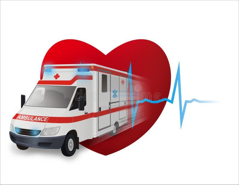 Ambulancia rápida stock de ilustración