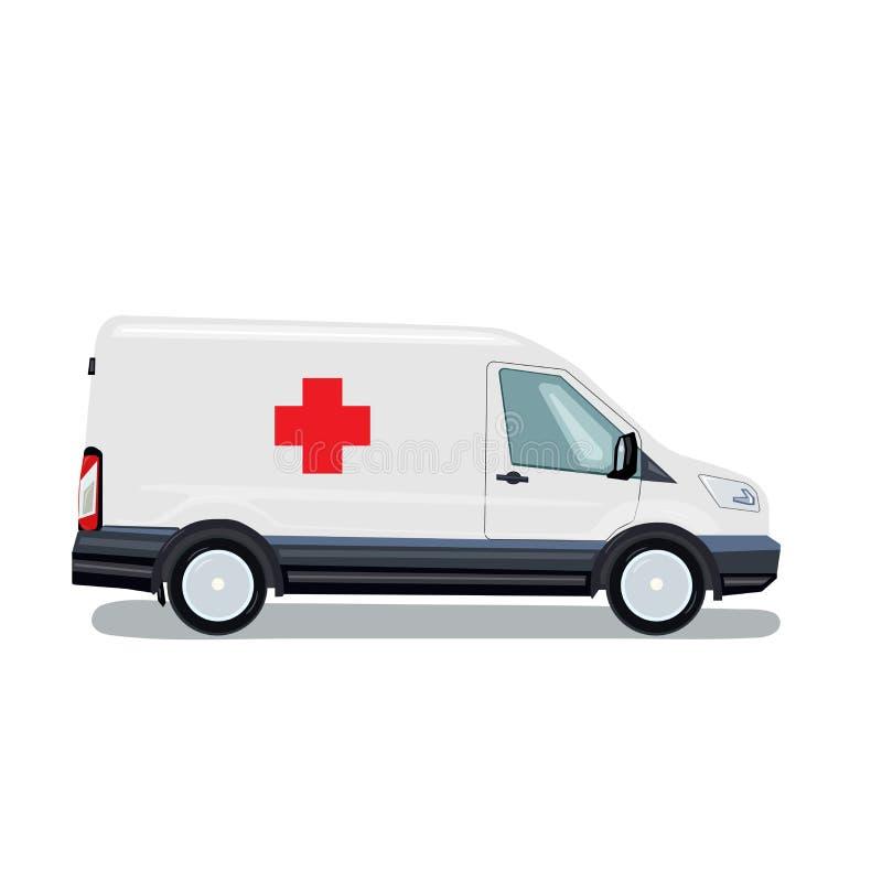 ambulancia Resucitación del coche Ayuda médica del microbús Ilustraci?n del vector stock de ilustración