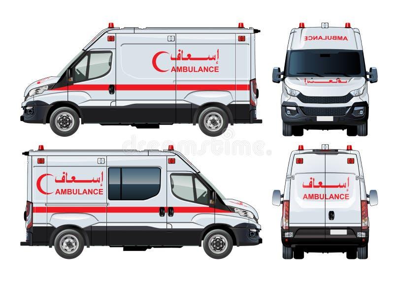 Ambulancia Van del vector ilustración del vector