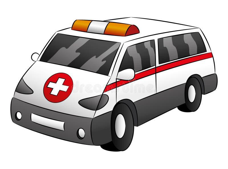 ambulans samochód German europy Monachium royalty ilustracja