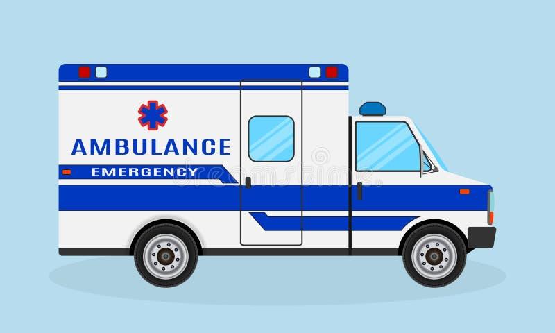 ambulansbileuropa germany munich Nöd- medel för medicinsk service Sjukhustransport Medicintrans.skåpbil vektor illustrationer