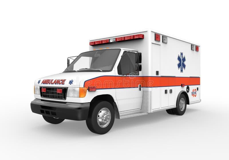 Ambulans som isoleras på vitbakgrund stock illustrationer