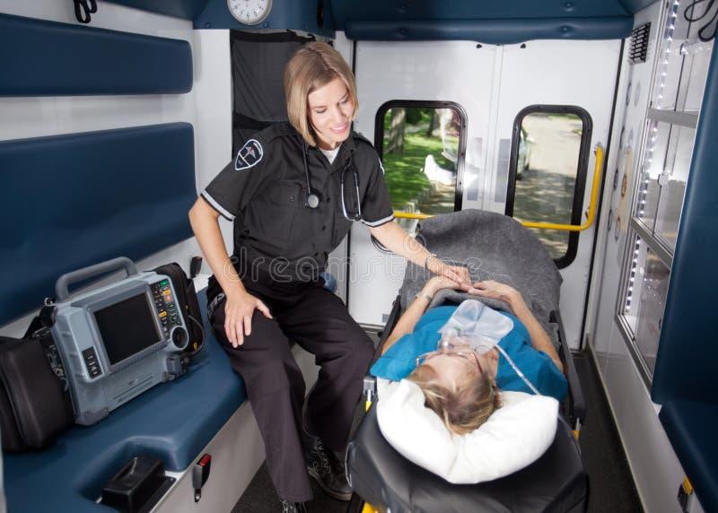 ambulansinterior royaltyfria foton