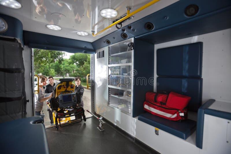 ambulansinterior royaltyfri foto