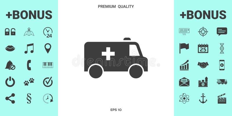 Ambulansowa symbol ikona royalty ilustracja
