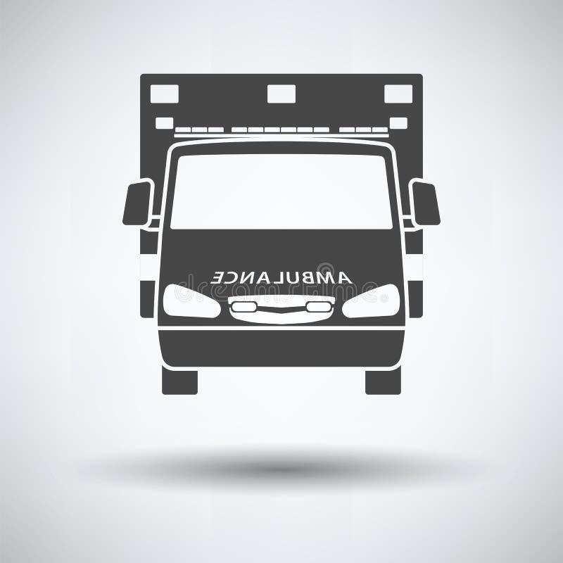 Ambulansowej ikony frontowy widok ilustracja wektor
