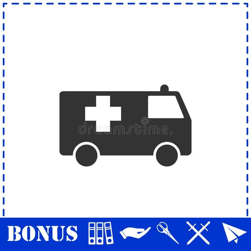 Ambulansowy ikony mieszkanie ilustracja wektor