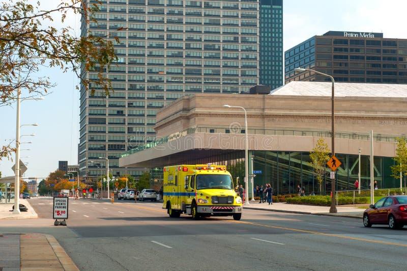 Ambulansowy przymknięcie wewnątrz obrazy stock
