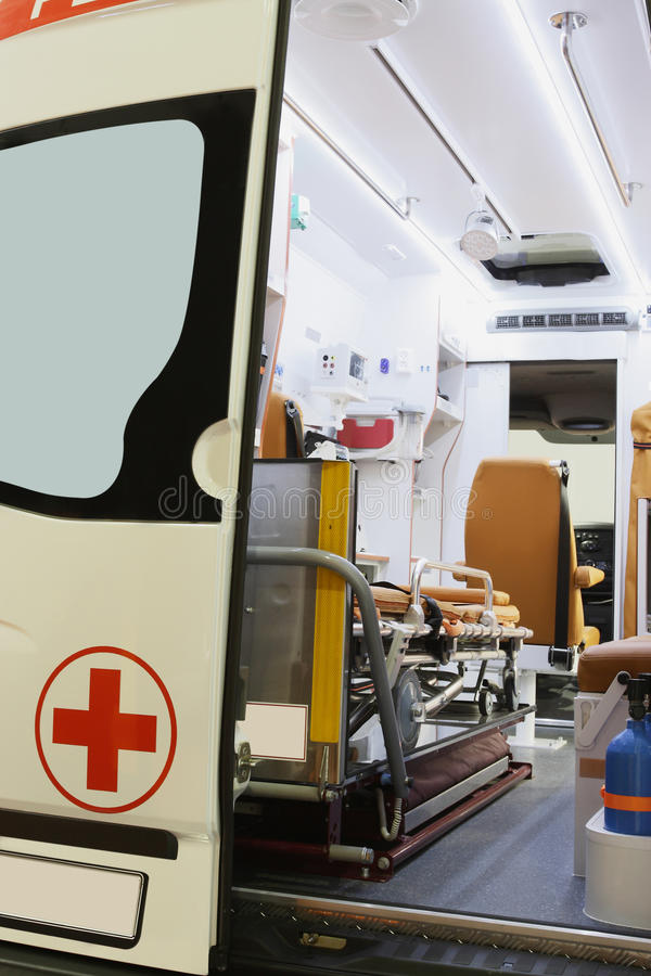 ambulansowy samochód fotografia royalty free