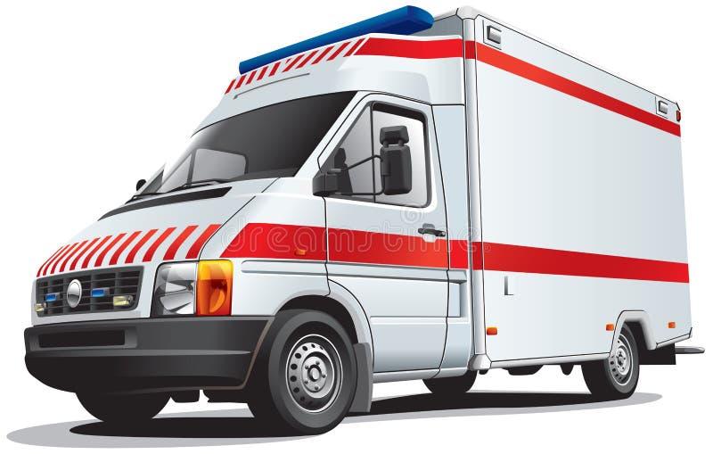ambulansowy samochód ilustracji