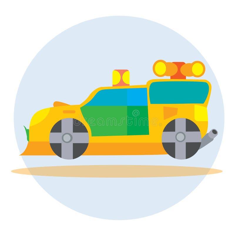 Ambulansowy samochód ilustracja wektor