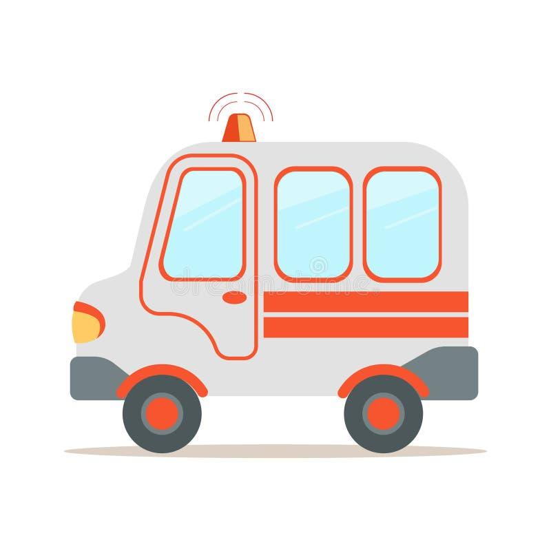 Ambulansowy samochód, przeciwawaryjnego usługa zdrowotna pojazdu kreskówki wektoru kolorowa ilustracja ilustracja wektor