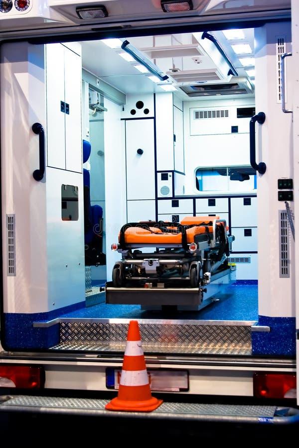 ambulansowy wnętrze obrazy stock