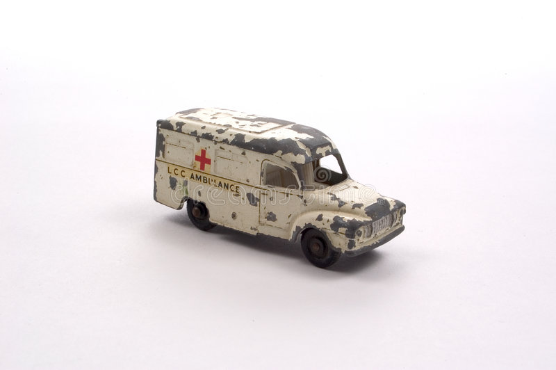Ambulanza Antica Del Giocattolo Fotografia Stock Libera da Diritti