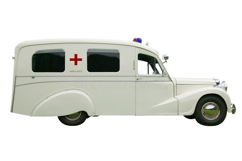 Ambulanza antiquata fotografie stock