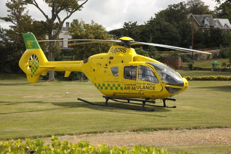 Ambulanza di aria del Hampshire fotografia stock libera da diritti