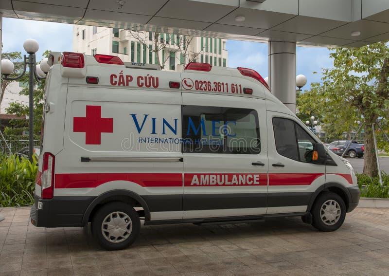Ambulanza internazionale dell'ospedale di VinMec, Da Nang, Vietnam fotografie stock libere da diritti