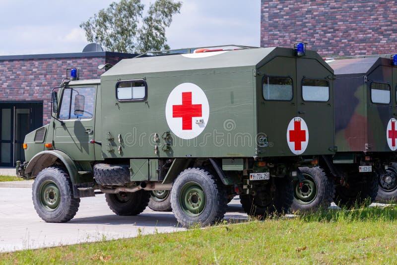 Ambulanza militare tedesca immagine stock