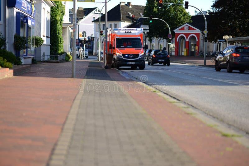 Ambulanza tedesca immagini stock