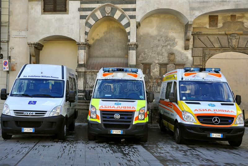 Ambulanze in Italia immagine stock