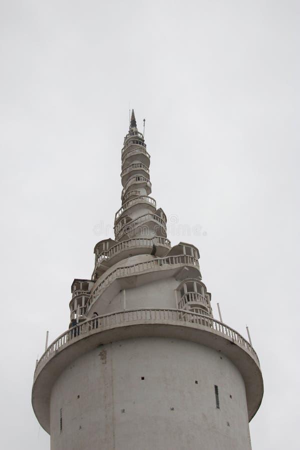 Ambuluwawa巨大的修造的斯里兰卡 库存图片