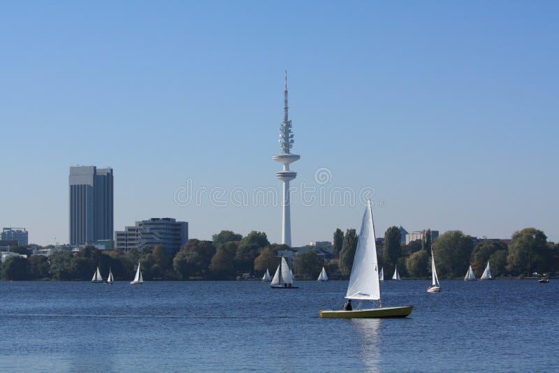Amburgo Alster fotografia stock libera da diritti