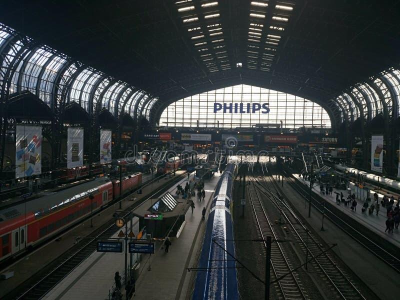 Amburgo Bahnhof immagini stock