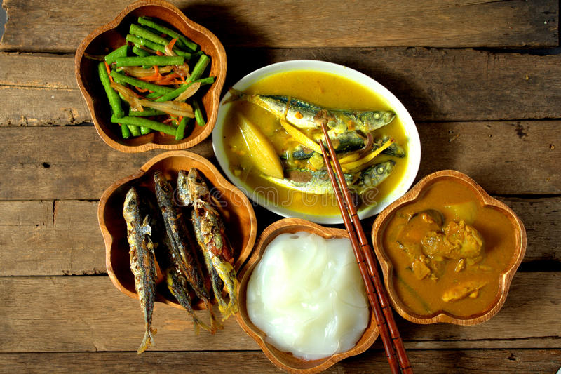 Ambuyat - εθνικό πιάτο του Μπρουνέι στοκ εικόνες