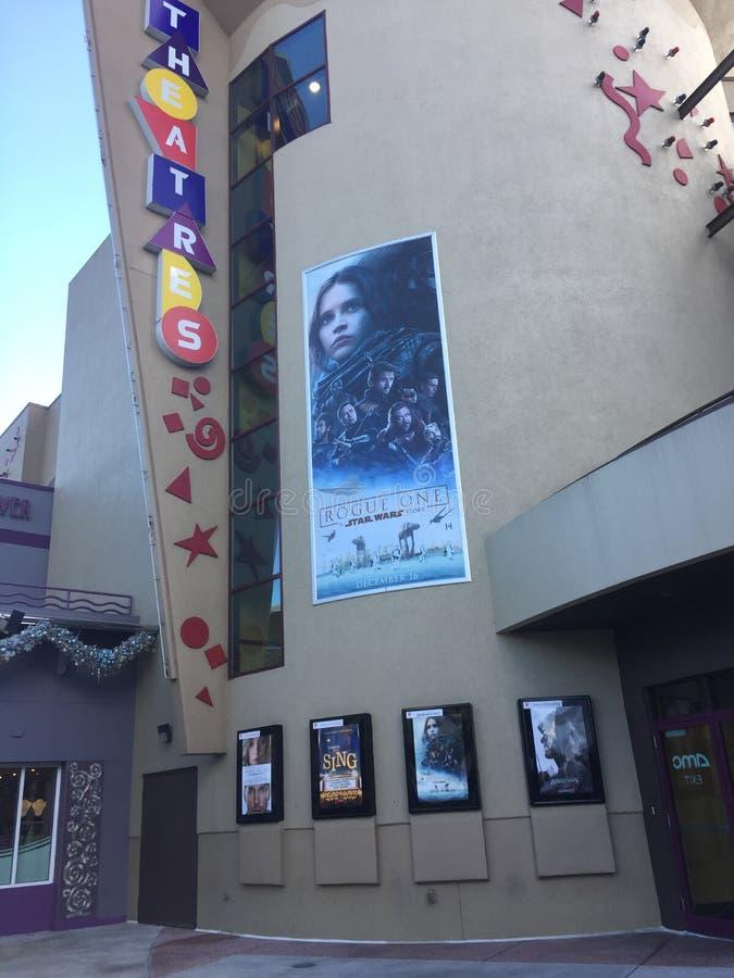 AMC Disney salta 24 con Cenar-en los teatros imagen de archivo libre de regalías