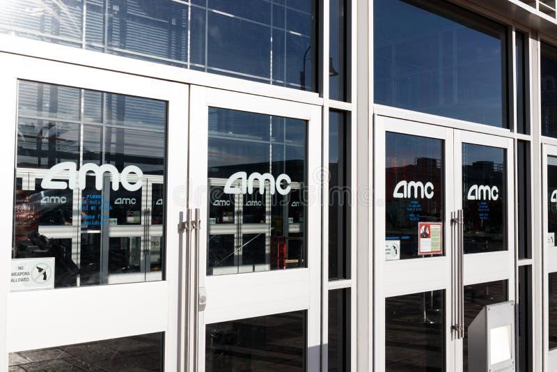 AMC kina lokacja AMC teatry są wielkim kina łańcuchem w światowy III zdjęcia stock