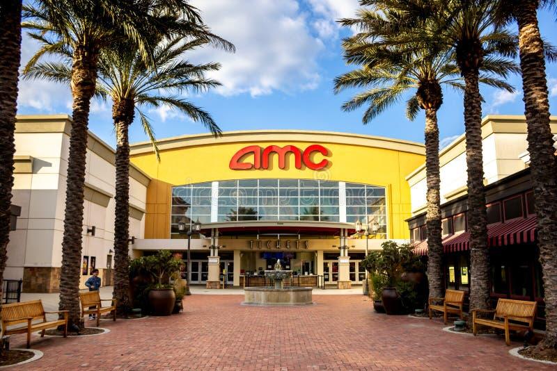 AMC movie theater royalty free stock photos