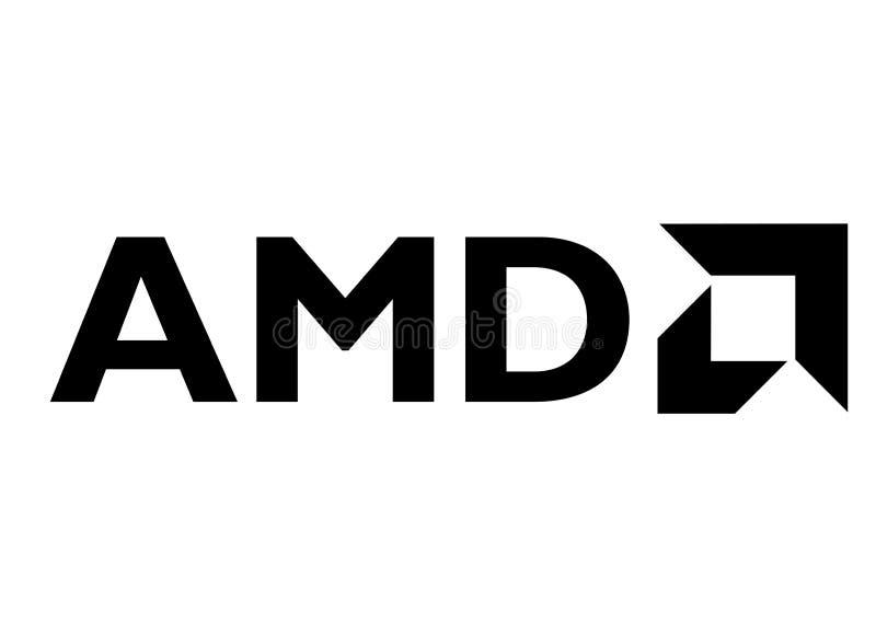 AMD Logo. Black vector format available illustrator AI royalty free illustration